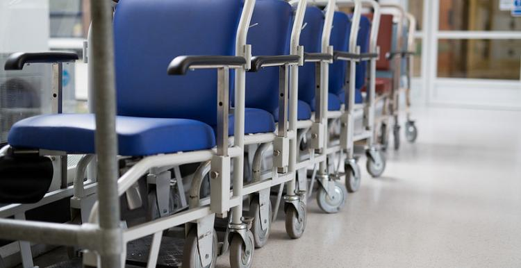 Picture of a row of wheel chairs