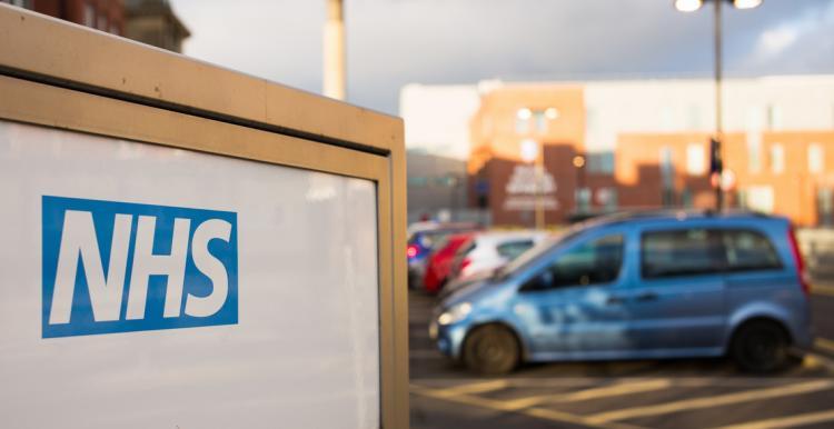NHS hospital car park