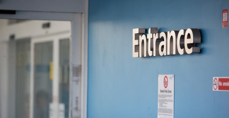Image of a entrance sign at a hospital