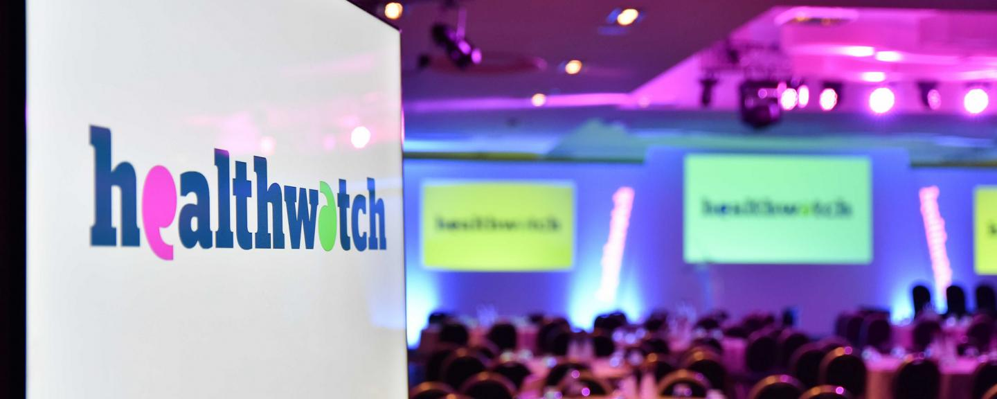 Healthwatch conference screens