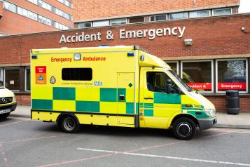Ambulance outside A&E