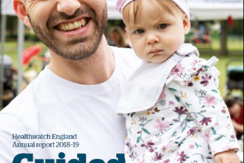 Healthwatch England annual report cover