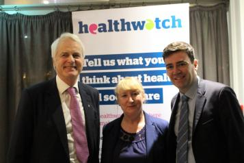 Chair and National Director of Healthwatch with Mayor of Manchester