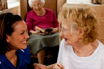 Women in care home