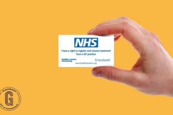 A photo of the my right to healthcare card