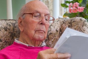 Older man reading