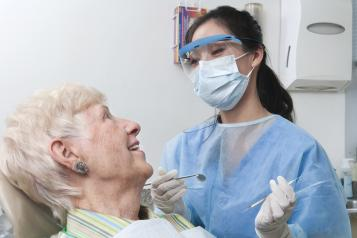 Lady having dental treatment
