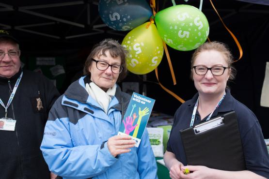 Healthwatch volunteers speaking to one another