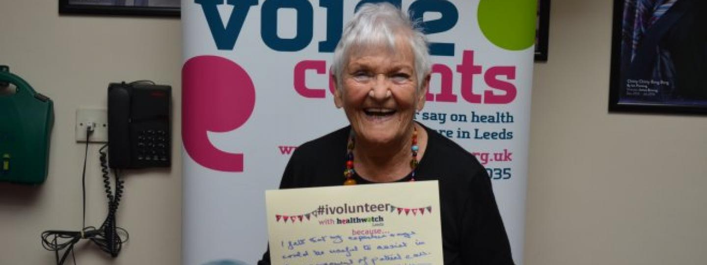 Betty - Healthwatch Leeds Volunteer