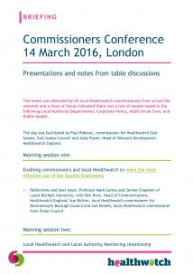 Commissioners Conference March 2016 resources front page