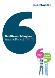 Healthwatch England Annual Report 2012-13 Front Cover