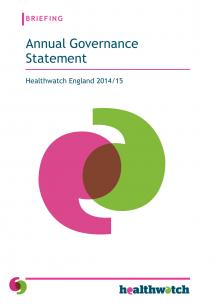 Our Annual Governance Statement 2014/15 Front Cover